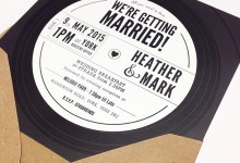 Vinyl Wedding Invitation-web